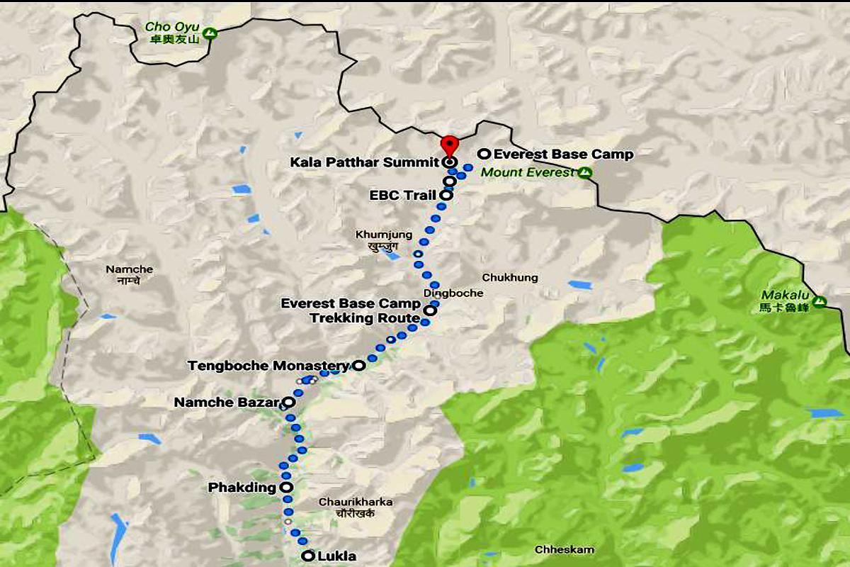 Everest Base Camp Trek  Trip Map